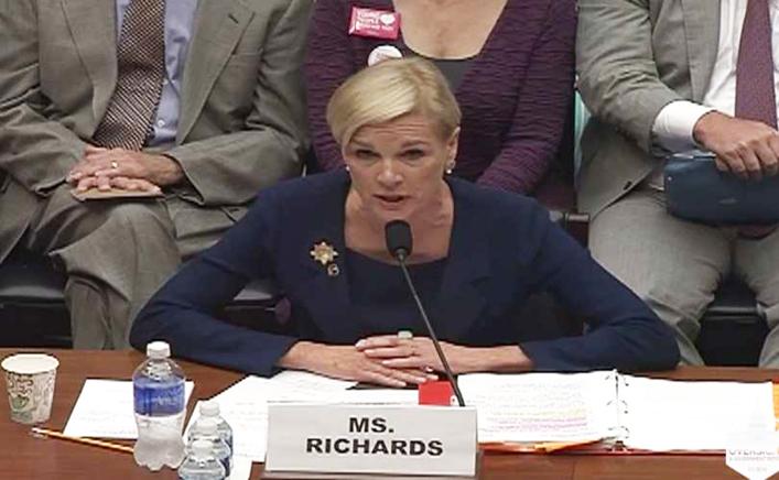 Cecile Richards benægter alt i kongreshøring