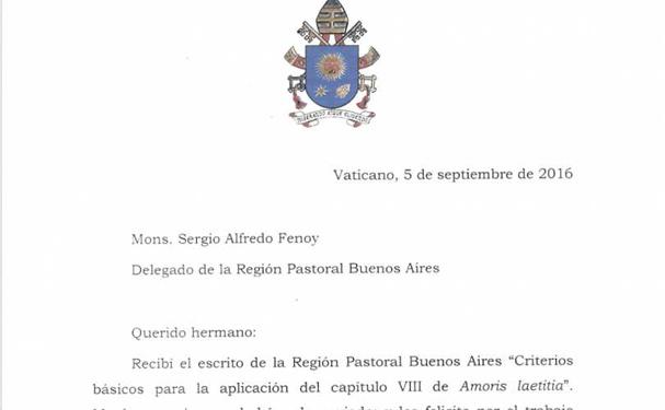 Amoris laetitia: Pave Frans bekender kulør