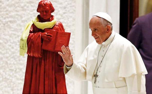 """Er pave Frans """"skabslutheraner?"""""""
