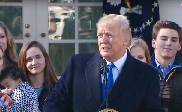 Donald Trump talte til deltagerne i March for Life i Washington D.C.