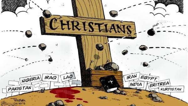 Kristne er jaget vildt over det meste af kloden